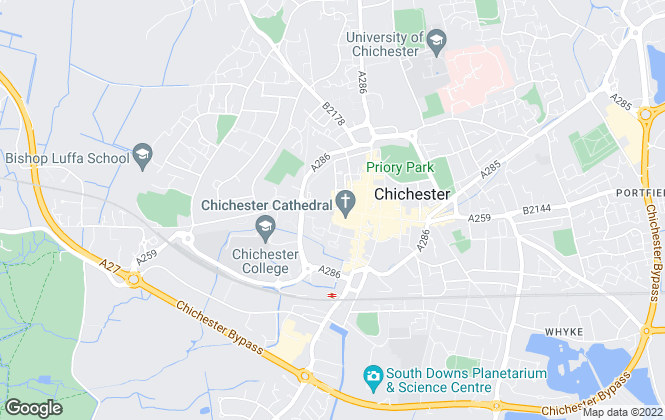 Map for Kenton Budd Estate Agents, Chichester