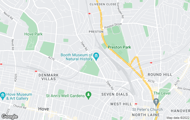 Map for John Hoole Estate Agents, Brighton