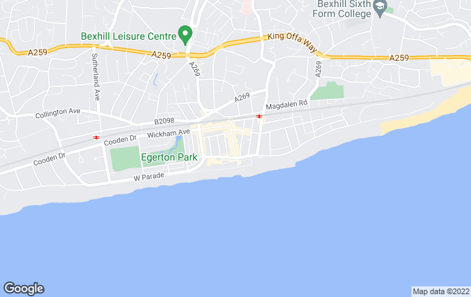 Map for New Foundations, Bexhill on Sea