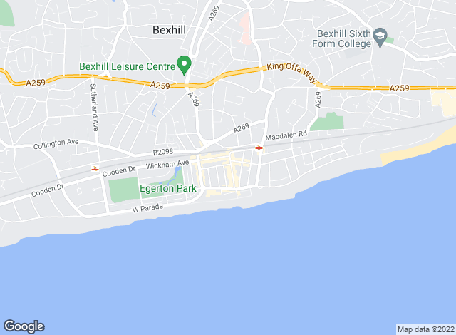 Map for Andrews Estate Agents, Bexhill
