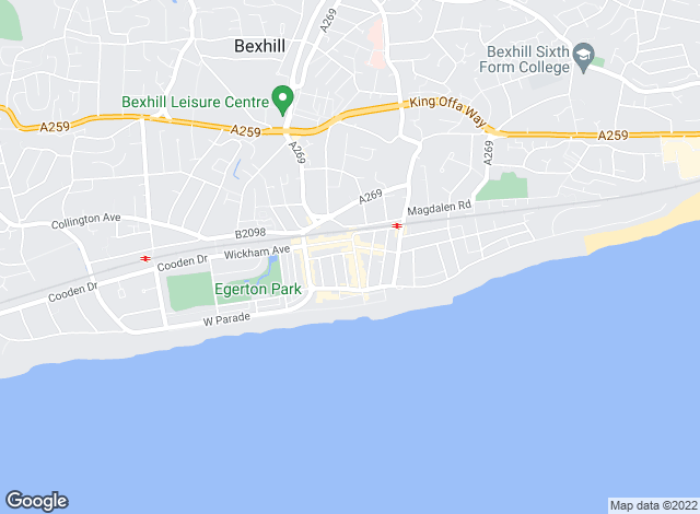 Map for Shuttleworths, Bexhill-on-Sea