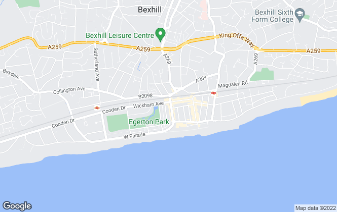 Map for Oakfield, Bexhill-on-Sea