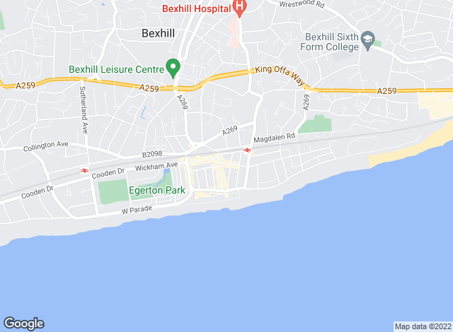 Map for Redwell Estates, Bexhill-on-Sea