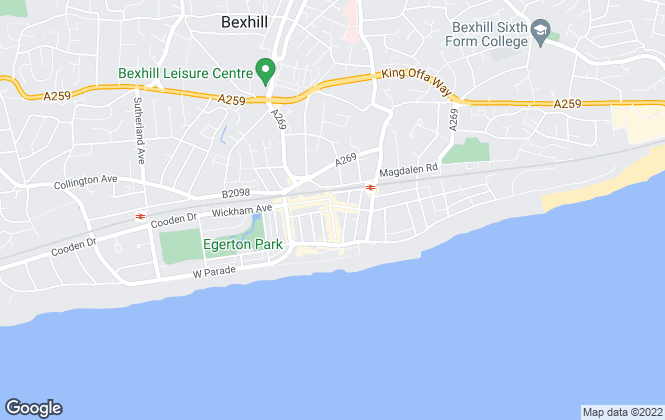 Map for Abbott & Abbott, Bexhill on Sea