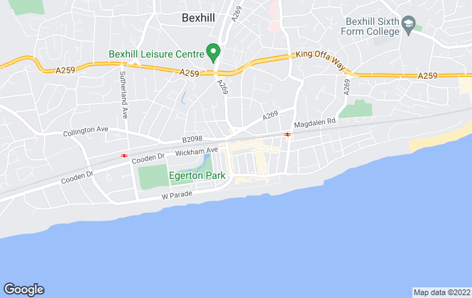 Map for Polecat Properties, Bexhill on Sea