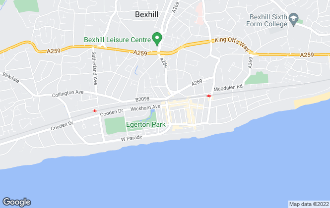 Map for The Property Cafe, Bexhill on Sea