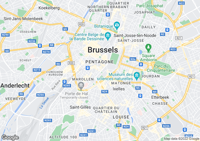 Map for bruxelles,