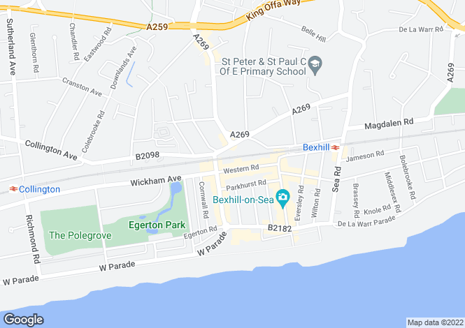 Map for Western Road,