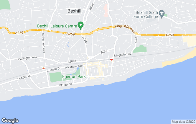 Map for Fox & Sons, Bexhill On Sea