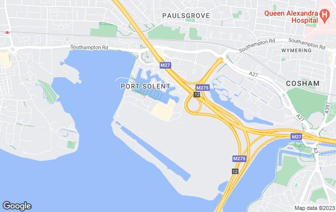 Map for Marina & Hampshire Life Homes, South Coast