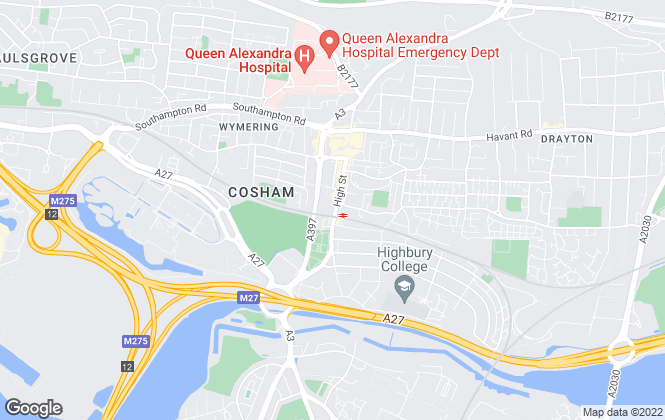 Map for Prime Lettings and Property Management, Cosham, Portsmouth