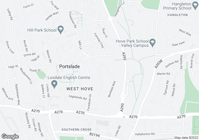Map for Mill Lane, Portslade, East Sussex, BN41 2DF