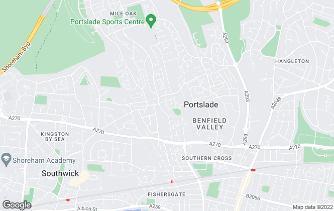 Map for Sinnott Green, Portslade