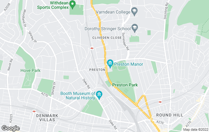 Map for King & Chasemore, Brighton, Preston Park
