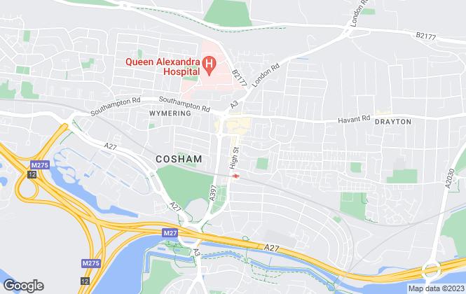 Map for AJM Estates, Cosham
