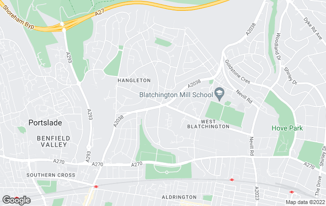 Map for Fox & Sons, Hove Hangleton Road