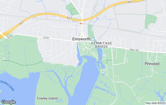 Map for Hazle & Co, Emsworth