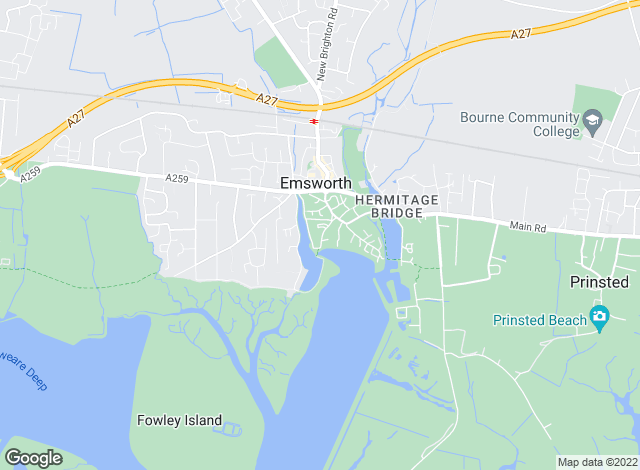 Map for Gascoigne-Pees, Emsworth