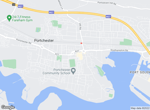 Map for YOUR MOVE, Portchester