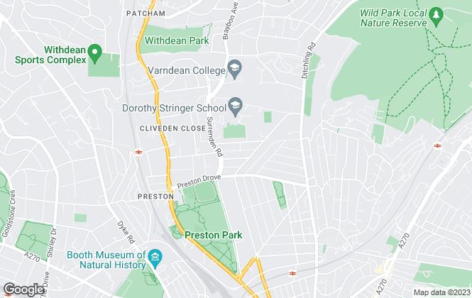 Map for Brighton Lettings Agency, Brighton