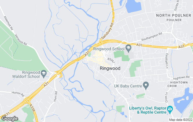 Map for Martin & Co, Ringwood - Lettings & Sales