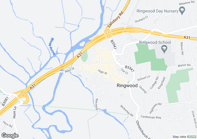 Map for New Forest Water Park, Ringwood Road, Fordingbridge, BH24 1AG