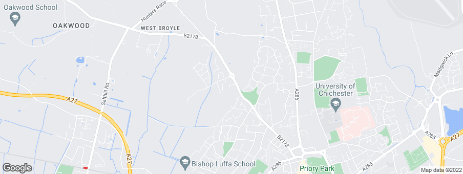 Map for Bovis Homes Southern