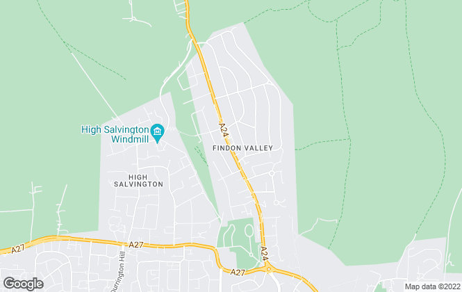 Map for Curtis & Son, Findon Valley