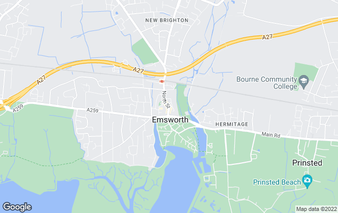 Map for Leaders , Emsworth