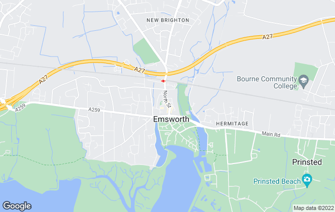 Map for Treagust & Co, Emsworth