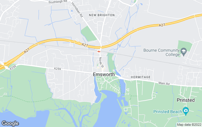 Map for Fine & Country, Emsworth