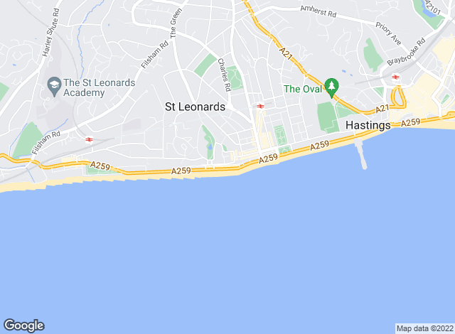 Map for Rush Witt & Wilson, St.Leonards-on-sea