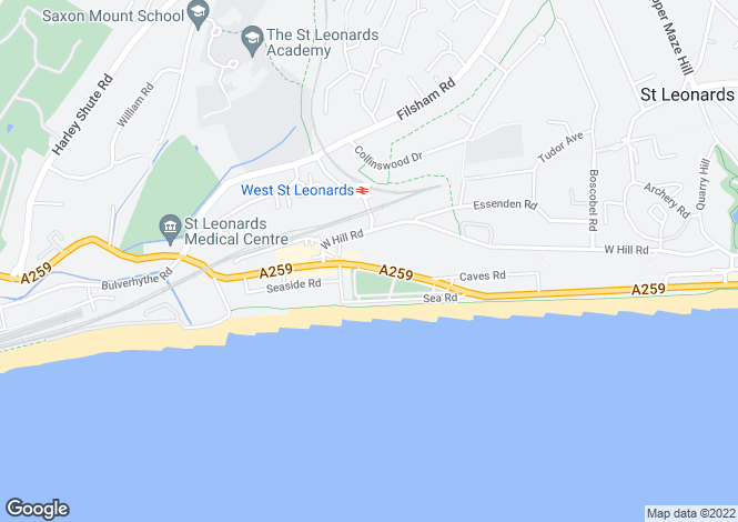 Map for Grosvenor Crescent, St. Leonards-On-Sea, East Sussex