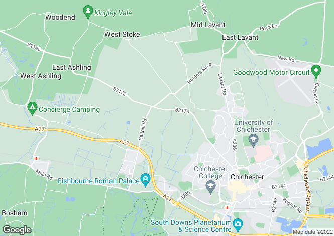 Map for West Broyle, Chichester, West Sussex