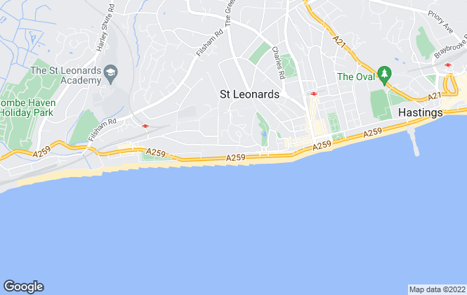 Map for Patrick Oliver Estate Agents, St. Leonards On Sea