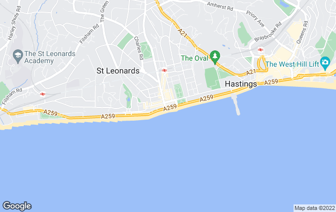 Map for Wyatt Hughes, St Leonards-on-Sea - Sales