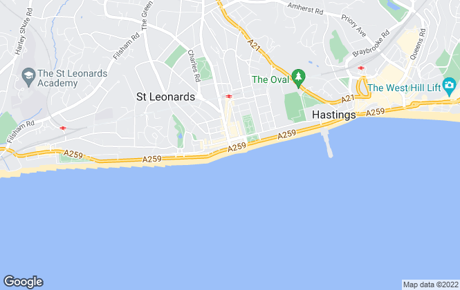 Map for M&W Sales and Lettings, St.Leonards on sea