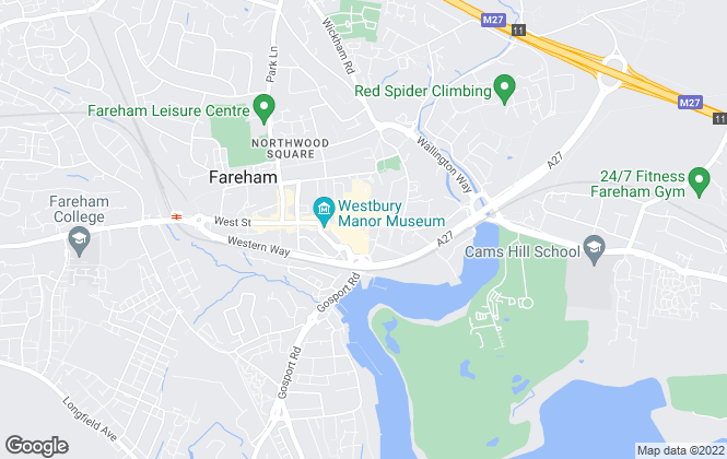 Map for Beals, Fareham