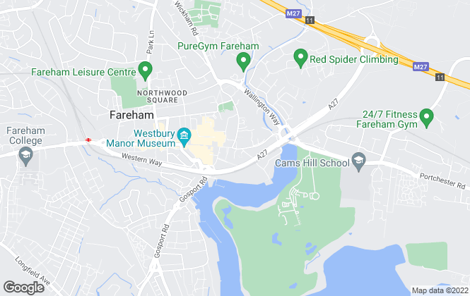 Map for Austin & Wyatt, Fareham