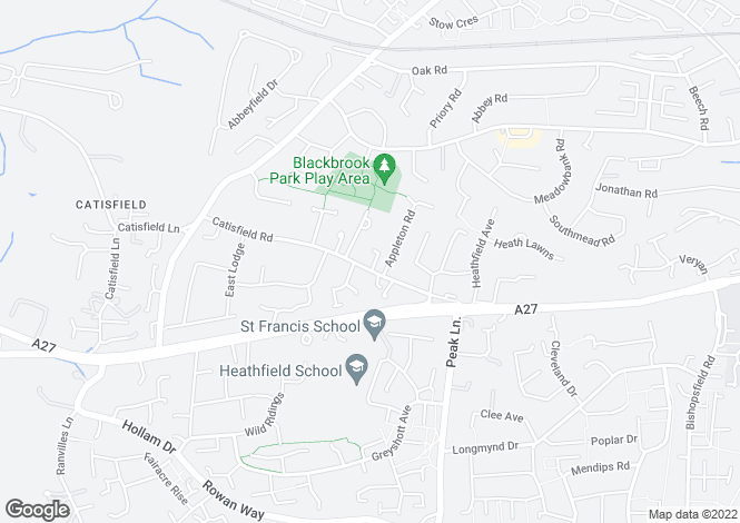 Map for 36 Catisfield Road, Fareham, Hampshire, Hampshire