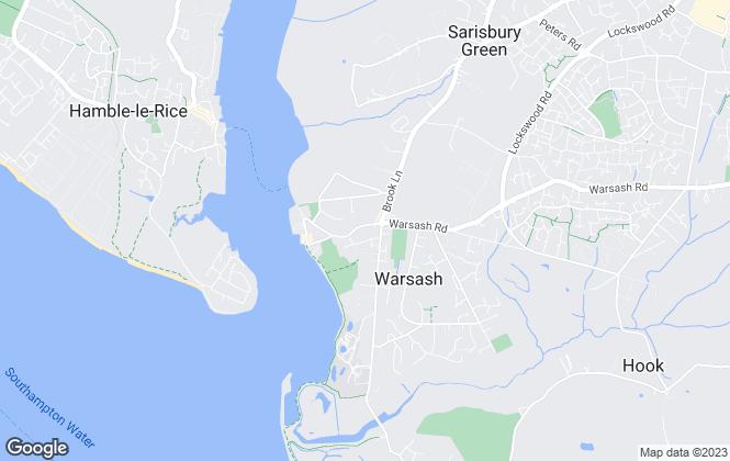 Map for Taylor Hill & Bond, Warsash