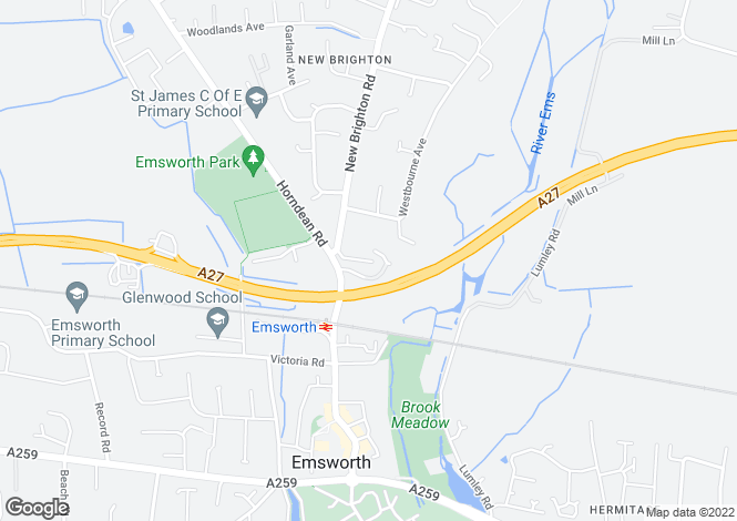 Map for Emsworth, Hampshire