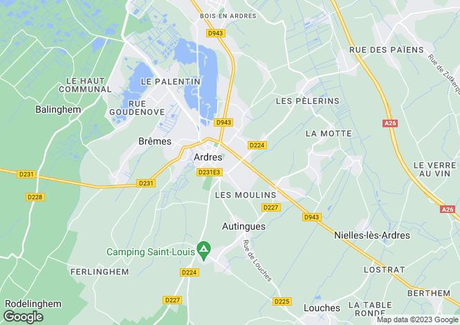 Map for ardres, Pas-de-Calais, France