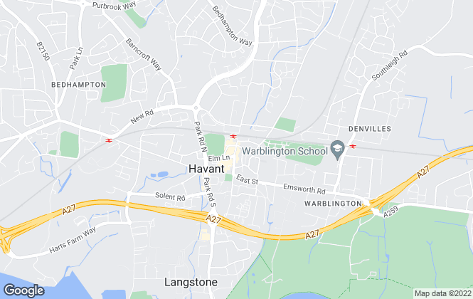 Map for Taylor Hill & Bond, Havant