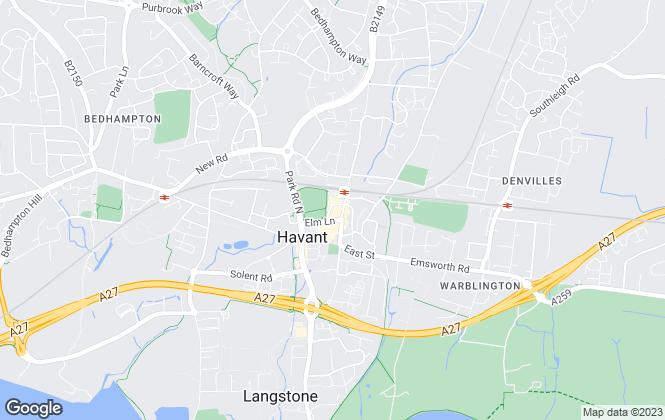 Map for Chapplins Estate Agents, Havant