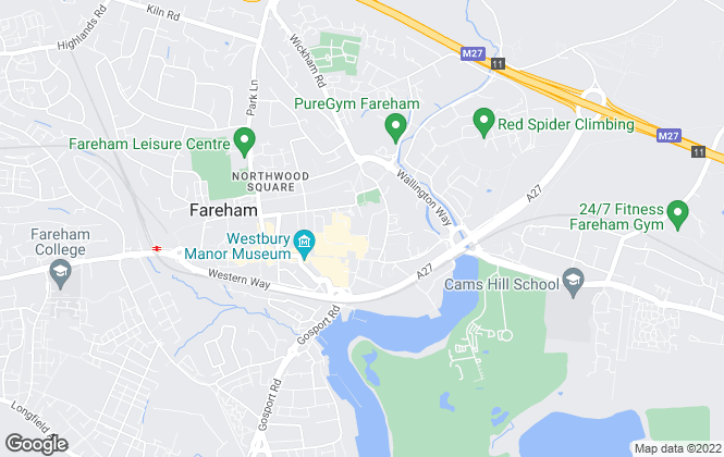 Map for Crystal Property , Fareham