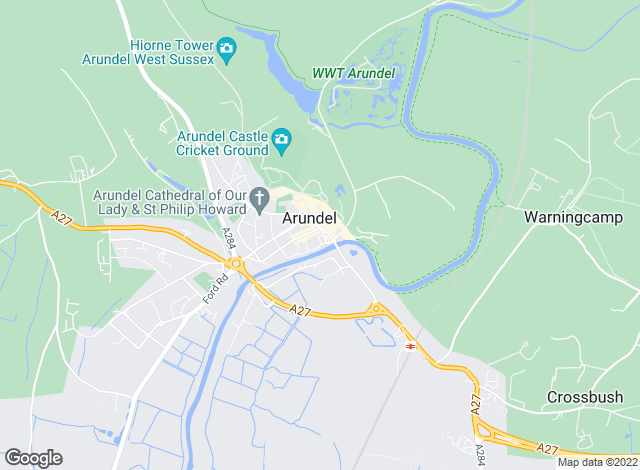 Map for Cubitt & West, Arundel