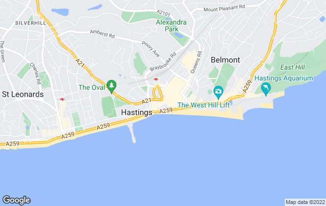 Map for Kinzett & Bowler, Hastings