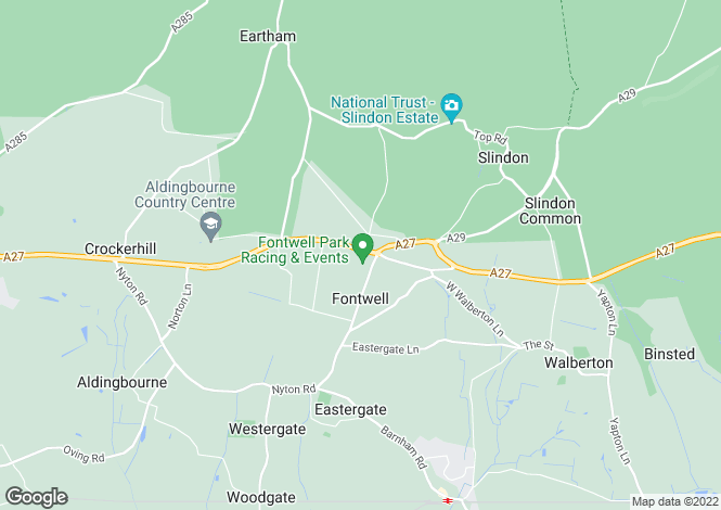 Map for Fontwell, Arundel, West Sussex