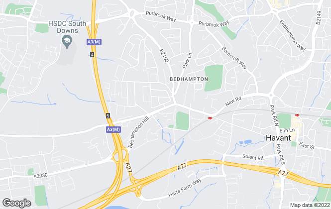 Map for Newmans Estate Agents Ltd, Bedhampton